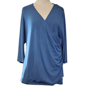 Soft Surroundings light blue top, size 1X